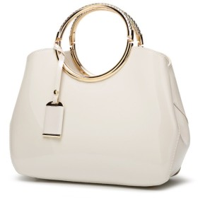【G-AVERIL】新型女子バッグエナメル革ハンドバッグ欧米ファッションハンドバッグ