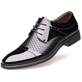 [Ksmxos] ビジネスシューズ 本革 メンズ 革靴 カジュアル 紳士靴 通勤 就職 結婚式 仕事 スーツ 靴 2色 (26.0 cm, ブラック)