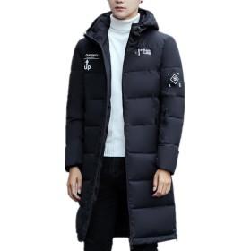 Infabe ダウンジャケット 中綿ジャケットアウター コート 防寒 防風 冬 軽量 メンズ ダウンコート 冬の暖かい 大きいサイズ 上品 アウトドア 防寒コート 冬