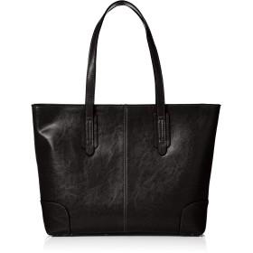 [エーエムエス] レザー トートバッグ ビジネスバッグ メンズ あおり型 牛床革 A4 大容量 自立 間仕切り付き 底鋲 通勤 通学 ブラック