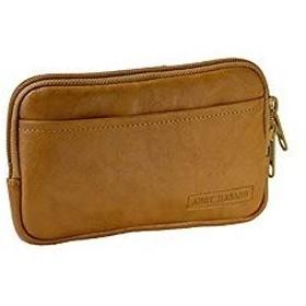 ベルトポーチ スマホポーチ メンズ 薄マチ 薄型 スマートフォン スマホ 日本製 国産 豊岡製鞄 (キャメル)