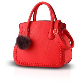 NICOLE&DORIS 2018レディース/女性/女性のハンドバッグの女性のバッグのハンドバッグは、シニアPUハンドバッグ財布(レッド)