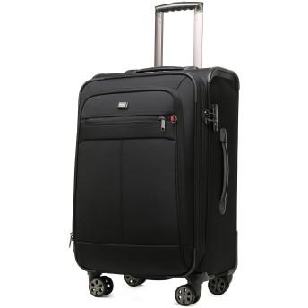 クロース(Kroeus) ソフトキャリーバッグ TSAロック スーツケース 大型キャスター マチ拡張 大容量 軽量 旅行 出張 ネームタグ付 防塵カバー L