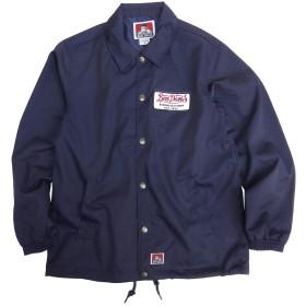 BEN DAVIS ジャケット ワッペン コーチジャケット メンズ ツイルジャケット ベンデイビス (Lサイズ, ネイビー)