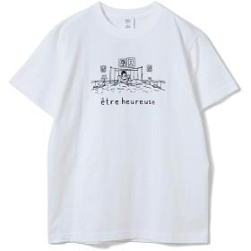 [レイビームス] Tシャツ NAIJEL GRAPH × Ray BEAMS 別注 GIRL in Bed Tシャツ レディース ホワイト ONE SIZE
