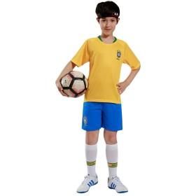 キッズ サッカー ユニフォーム ホーム レプリカ ワールドカップ 半袖 Tシャツ ショートパンツ セット ブラジル M