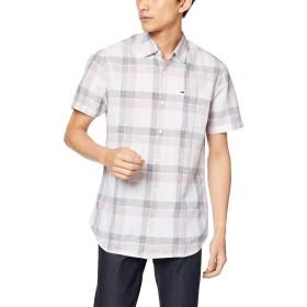 (トミー ヒルフィガー) TOMMY HILFIGER ショートスリーブ リネン チェックシャツ DM0DM04199 XL パープル