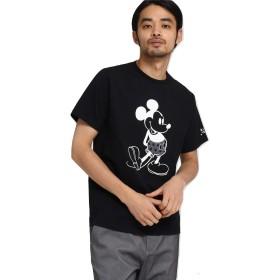 BASE CONTROL(Men)(ベースコントロール(メンズ))【WEB限定】 DISNEY ディズニー Tシャツ 星柄パンツ 半袖Tシャツ (ミッキーマウス) ブラック(019) 02(M)