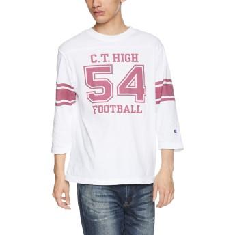 [チャンピオン] 7分袖フットボールTシャツ C3-P414 メンズ ホワイト 日本 M (日本サイズM相当)
