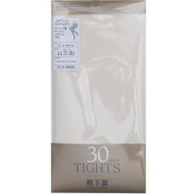 [靴下屋]クツシタヤ プレミアム 30デニールタイツM~Lサイズ M~L 日本製 オフホワイト