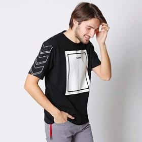 メンズメルローズ(MEN'S MELROSE) 【予約商品】hummel別注Tシャツ【03ブラック/M(3)】