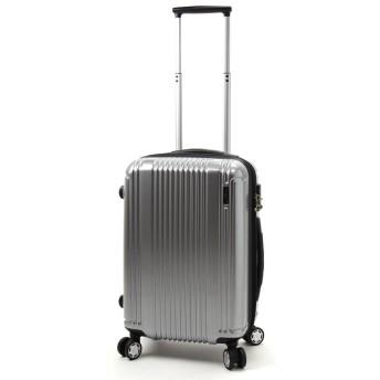 BERMAS PRESTIGE II バーマス プレステージ2 4輪 スーツケース ハードキャリー ファスナータイプ 34L 機内持込 TSAロック付 シルバー 60252-SV