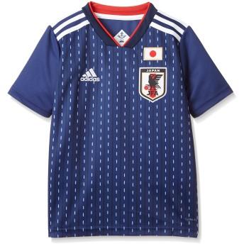 [アディダス] Kidsサッカー日本代表 ホームレプリカユニフォーム半袖 DRN90 ボーイズ ナイトブルー F13/ホワイト (BR3644) 日本 J160-(日本サイズ160 相当)