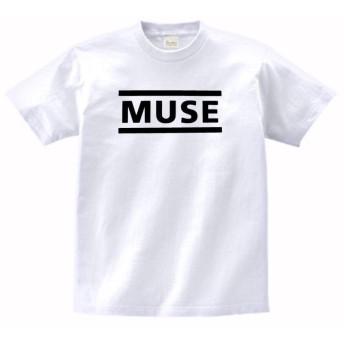 音楽 バンド ロック MUSE Tシャツ 白 MLサイズ (M)
