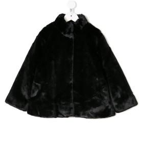 Douuod Kids エコファー ケープ ジャケット - ブラック