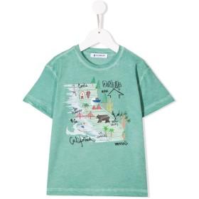 Dondup Kids California プリント Tシャツ - グリーン