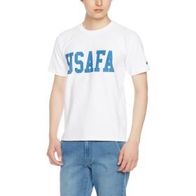[チャンピオン] リバースウィーブ Tシャツ C3-F371 メンズ ホワイト×ブルー 日本 M (日本サイズM相当)