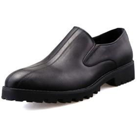 TDHHY ビジネスシューズ フォーマルシューズ シューズ 靴 紳士靴 革靴 本革 高級靴 フォーマル 冠婚葬祭 カジュアル ファッション 英国 快適 耐摩耗性 レジャースリップオン シューズ ファッション ファッション (Color : ブラック, サイズ : 24 CM)
