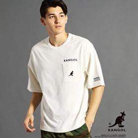 ヴィタル ムッシュニコル(VITAL MONSIEUR NICOLE) 【WEB別注】KANGOLコラボビッグTシャツ【09ホワイト/48(L)】