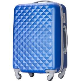 (トラベルデパート) 超軽量スーツケース TSAロック付 ダイヤ柄 Mサイズ ネイビー