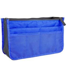 バッグインバッグ BAG IN BAG トートバック 収納たっぷり 全12色 バックインバック トートバッグ 収納 化粧ポーチ 男女兼用 散歩バッグ海外旅行グッズ トラベルグッズ (ネイビー)