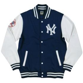 (マジェスティック) MAJESTIC ニューヨーク ヤンキース ロゴ刺繍 裏起毛 スウェット スタジャン XL NAVY(ネイビー)