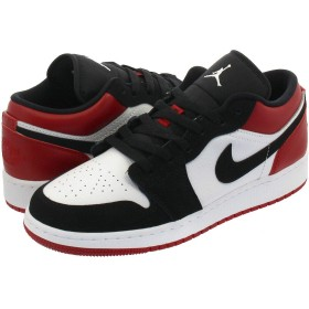 [ナイキ] AIR JORDAN 1 LOW GS WHITE/BLACK/GYM RED 23.0cm [並行輸入品]