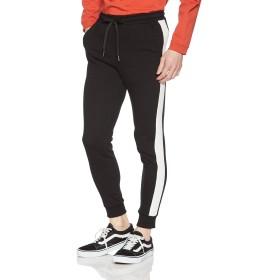 [ウィゴー] WEGO 裏毛 ライン ジョガー パンツ M ブラック メンズ
