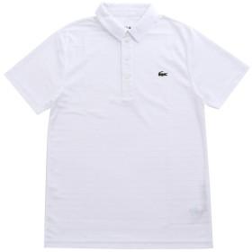 LACOSTE(ラコステ) 半袖 ポロシャツ ワンポイント ジャガードストライプ DH8132 (2(日本サイズS), ホワイト) [並行輸入品]