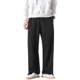 サルエルパンツ ファッション スウェットパンツ 綿麻 メンズ 調整紐 ゆったり メンズ カジュアル ズボン 通気性 レディース エスニック 春夏 無地 大きいサイズ
