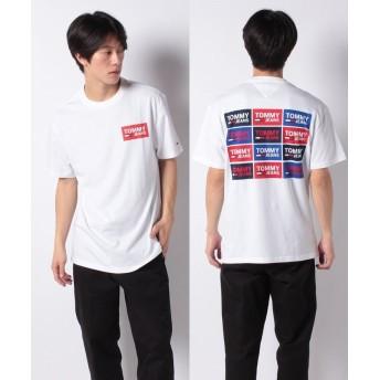 トミーヒルフィガー リピートロゴTシャツ メンズ ホワイト S 【TOMMY HILFIGER】