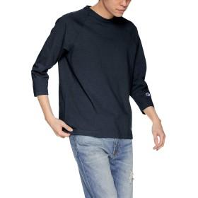 [チャンピオン] T1011 7分袖Tシャツ ワンポイントロゴ C5-P404 メンズ ネイビー 日本 M (日本サイズM相当)