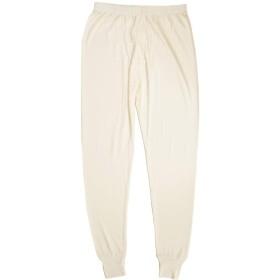 繭衣 シルク100% メンズ長ズボン下 (01)白 M silk007