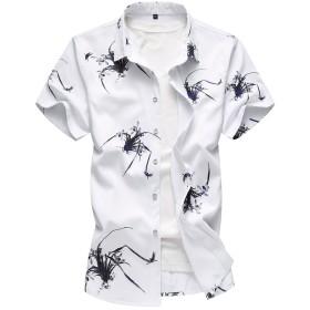 YFFUSHI アロハシャツ メンズ yシャツ ハワイ S-6XL 花柄 薄手 半袖 全9柄 アメカジ お洒落 カジュアル プリント 海