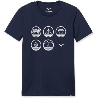 [ミズノ]アウトドア スパン天竺半袖プリントTシャツ [ボーイズ] メンズ ドレスネイビー 日本 140 (日本サイズ140 相当)