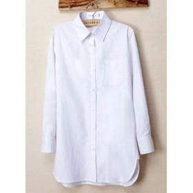 NomNOO ゆったり ロング丈 シャツ ブラウス トップス 長袖 無地 チェック柄 きれいめ カジュアル レディース ファッション