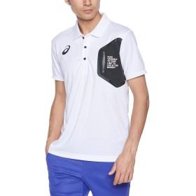 [アシックス] トレーニングウエア LIMO グラフィックポロシャツ 2031A687 メンズ ブリリアントホワイト 日本 L (日本サイズL相当)