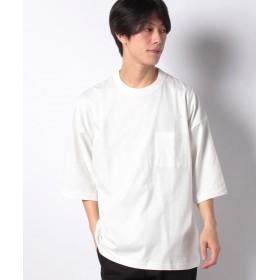 【28%OFF】 ウィゴー WEGO/ステッチポケットビッグ5分袖Tシャツ メンズ ホワイト M 【WEGO】 【タイムセール開催中】