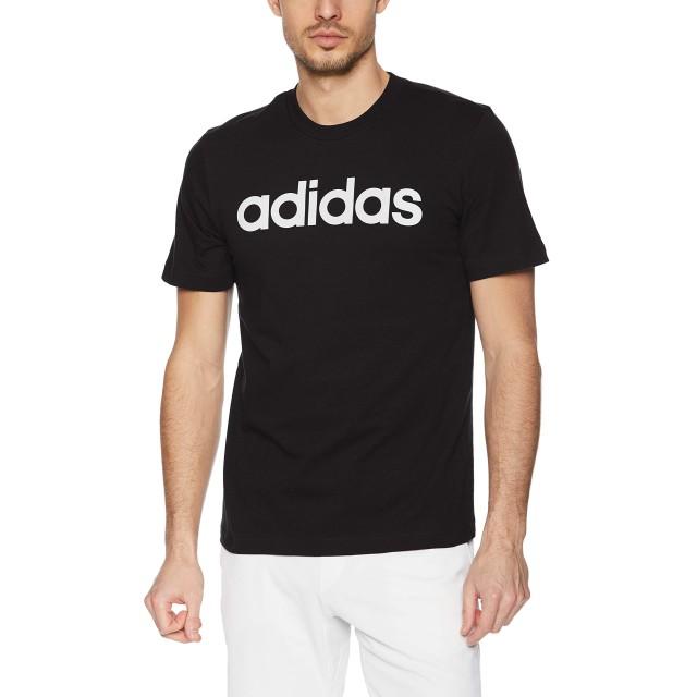 [アディダス] トレーニングウェア エッセンシャルズ リニアロゴ 半袖Tシャツ/Essentials Linear Logo Tee(FSG79) メンズ ブラック/ホワイト(DU0404) 日本 J/S (日本サイズS相当)