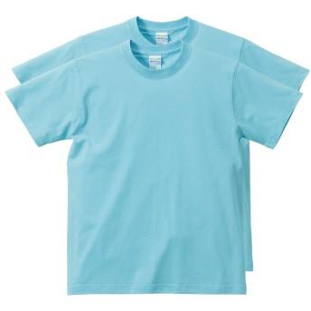 (ユナイテッドアスレ) United Athle 半袖 無地 ベーシック Tシャツ 2枚セット アクアブルー L