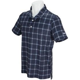 タイトリスト TITLEIST 半袖シャツ・ポロシャツ ストレッチ クールコアウインドペン半袖ポロシャツ ネイビー M