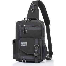 Hikker-link ショルダーバッグ ボディバッグ 大容量 メンズ HL3105 ブラック
