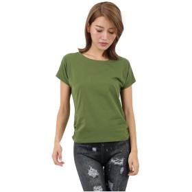 [コウエイストア]koeistore Tシャツ ラウンドネック 無地 半袖 Tシャツ プルオーバー レディース グリーン Y3051-gr-l L