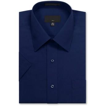 JD Apparel メンズ ドレスシャツ レギュラーフィット 半袖 US サイズ: 4XL / 20-20.5 N カラー: ブルー