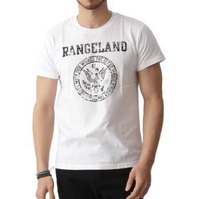 ARCADE(アーケード) 楽しく選べる全25パターン アメカジ ロゴプリント Tシャツ メンズ E柄ホワイト M