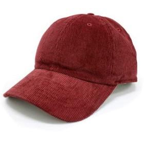 Newhattan ニューハッタン CAP キャップ corduroy コーデュロイ 1467 無地 ローキャップ [並行輸入品] (バーガンディ)