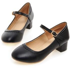 [RVESCHZ] パンプス スクエアトゥ ヒール3.5cm 足囲3E PUレザー 通勤 OL に最適な 軽い 歩きやすい 疲れにくい レディース 靴