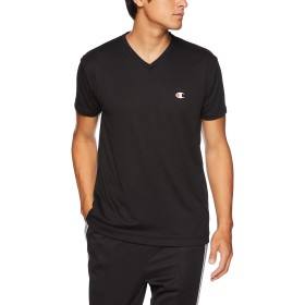 [チャンピオン] Tシャツ Vネック メッシュ CM1HM302 メンズ ブラック 日本 S (日本サイズS相当)