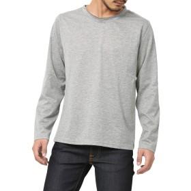 [アールディ.ゴースト] Tシャツ ロンT 長袖 無地 クルーネック メンズ 杢グレー Lサイズ