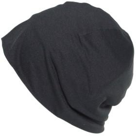 あすなろ帽子 医療用帽子 夏用 接触冷感素材 Ge-203C S~M ブラック